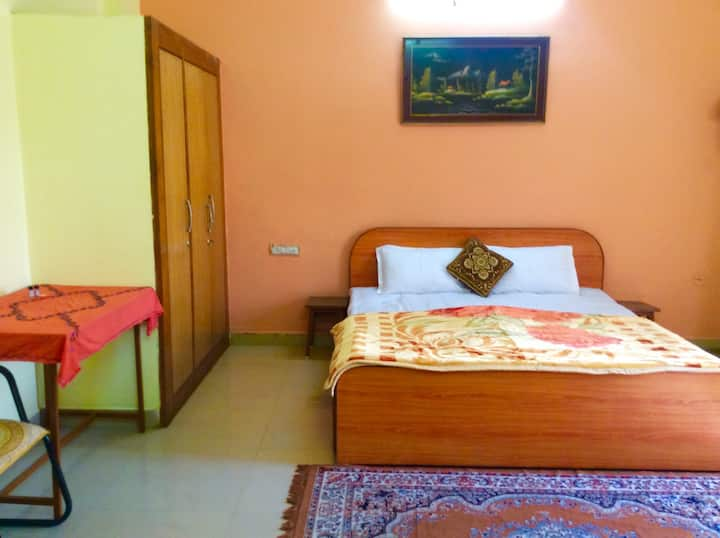 Private Room 270 sqft with Balcony, Dressing, bath