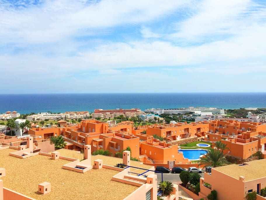 Mojacar playa ocean views apt flats for rent in moj car for Apartamentos playa mojacar