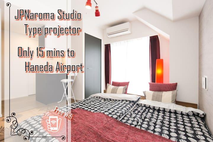 Tokyo legally-rented JPNaroma StudioType projector