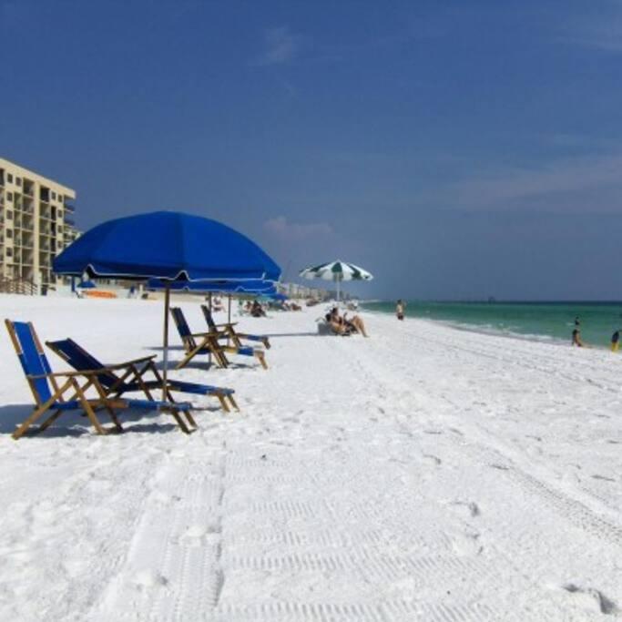 Our snow white beach