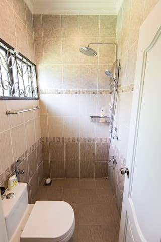 Common shared toilet for 2nd and 3rd bedroom, fitted with water heater