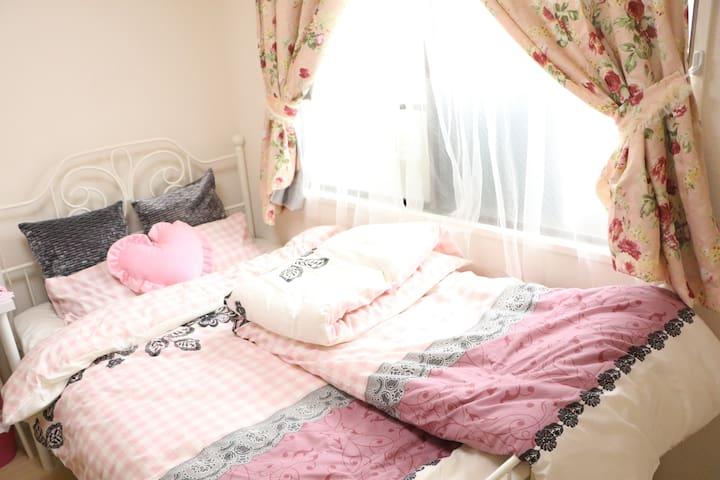 #01 The room with free pocket WiFi!Cute!sweet! - Ōsaka-shi - Flat