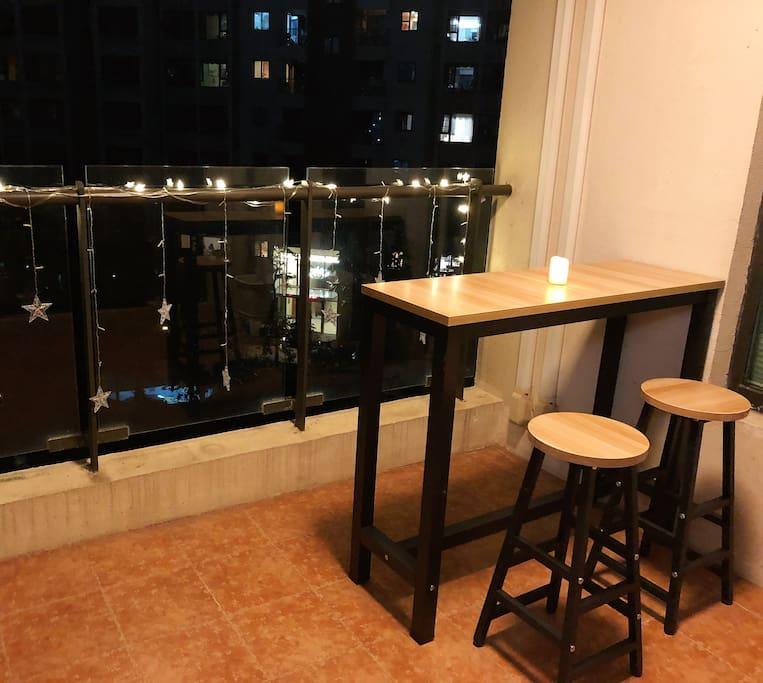 阳台小吧台