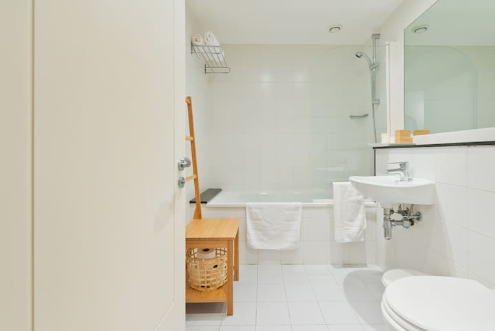 Main Bathroom (Bathroom #1) with shower and toilet facilities
