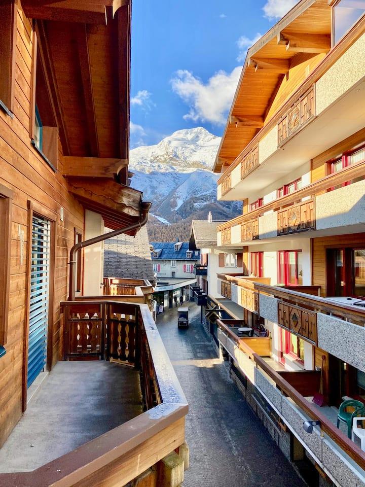 Saas-Fee appartement spacieux centre village