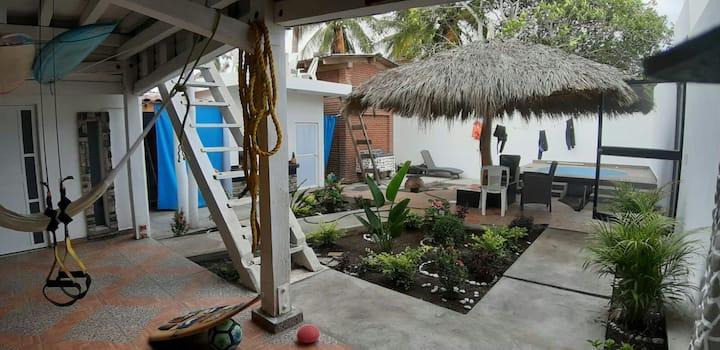 Habitación privada en Casa Cocodrilo de Pascuales