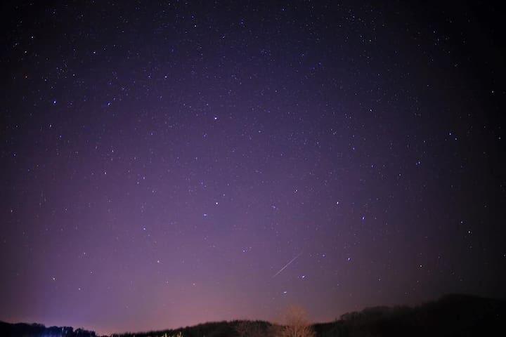 裏庭から双子座流星群の観察(2015/12/14) Stars at back yard in 2015.12.14