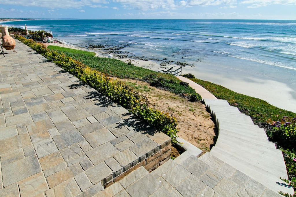 backyard with beach access