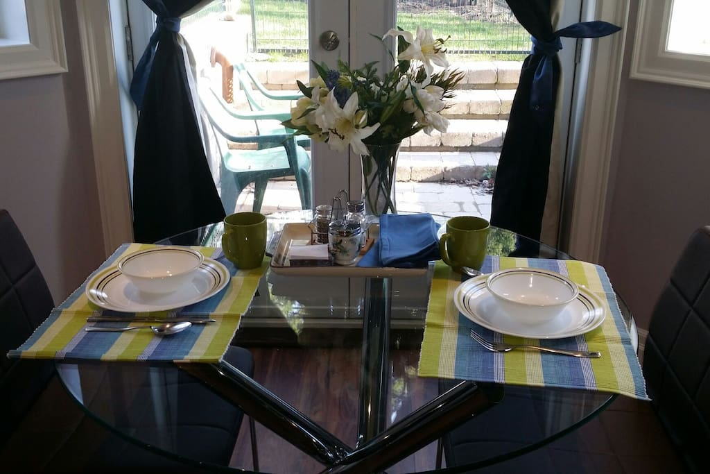 Welcome to your breakfast nook!