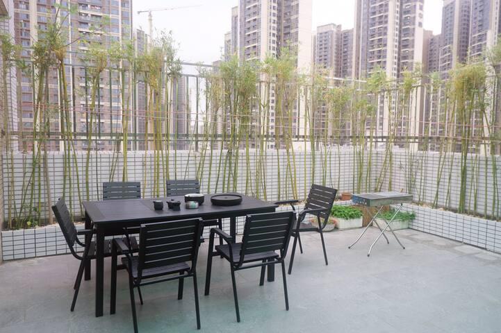 近深圳北,壹方天地购物中心,带36平米独立空中花园,可烧烤,做饭,麻将,火锅,茶艺