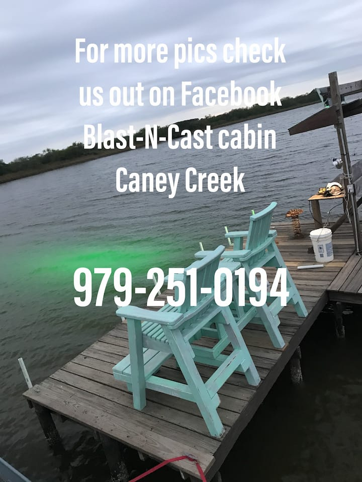 Blast n cast cabin on Caney Creek great fishing