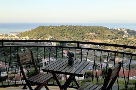 Panoramik Manzaralı Balkon ve Bahçeli Daire