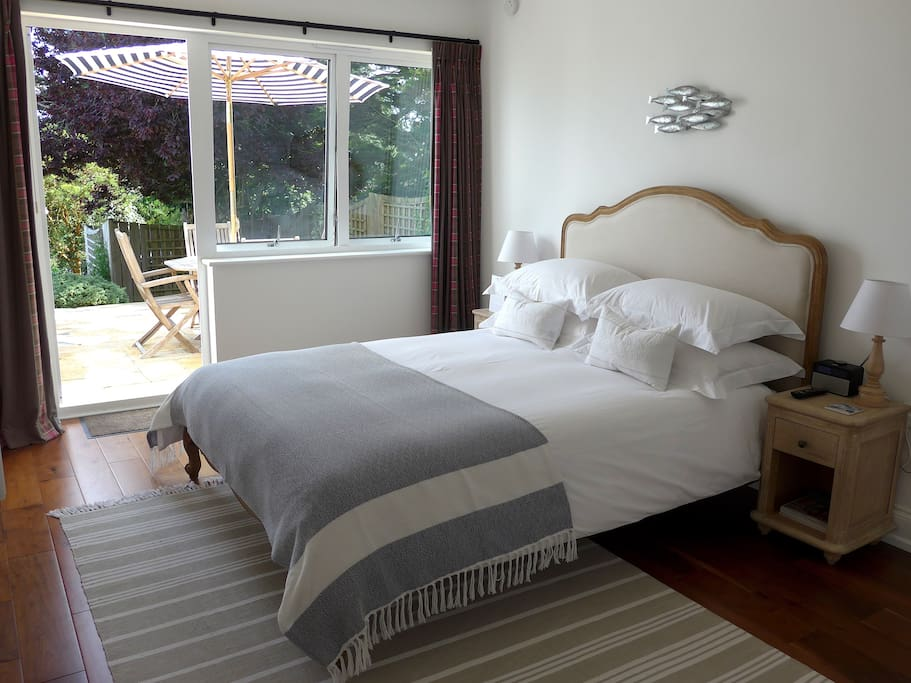 King size room with door onto Private Patio