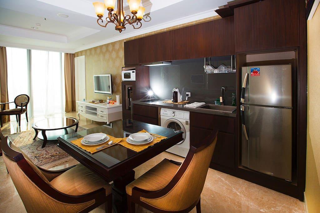 Dining area plus pantry