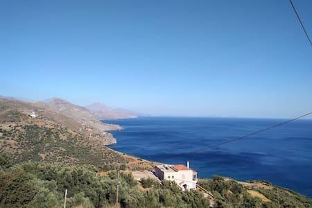 Countryside house overlooking the South Cretan Sea