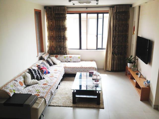 简约温馨家庭套房,2卧2厅,家庭出游首选! - Huzhou - Pis
