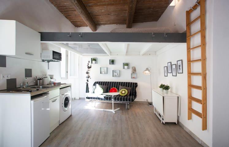 Beautiful Design Studio - WIFI optic fiber - Toulon - Apartment
