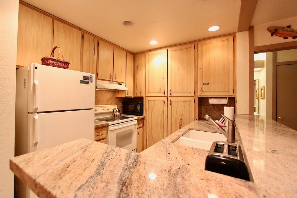 Granite counters with plenty of counter space