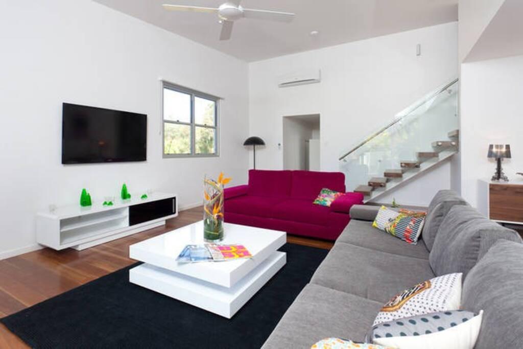 spacious lounge area