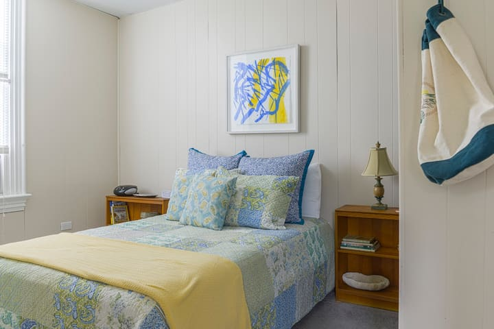 Bedroom~Gothic Furniture platform bed~ double Serta Perfect Sleeper.  Art by Ellen Priest