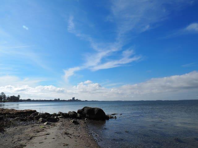 Nearby beach (100m)