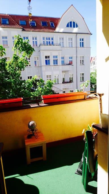 has a sunny Balcony