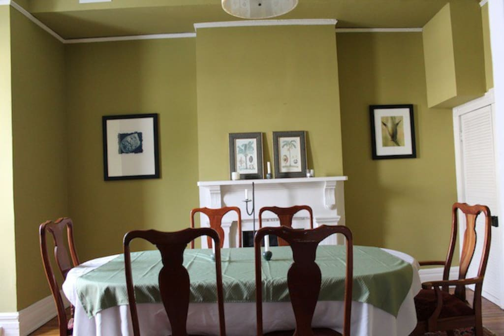 bright spacious dining room