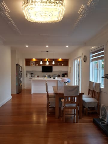 Open plan kitchen and  dinning