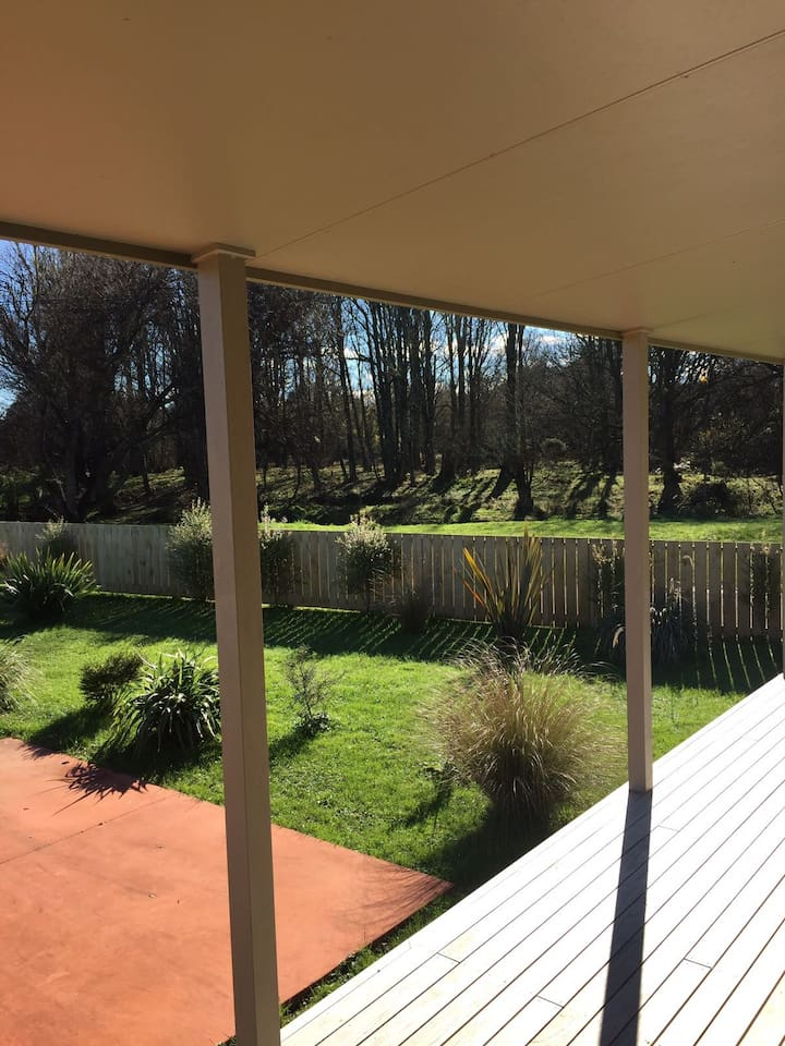 Looking out from the lounge deck
