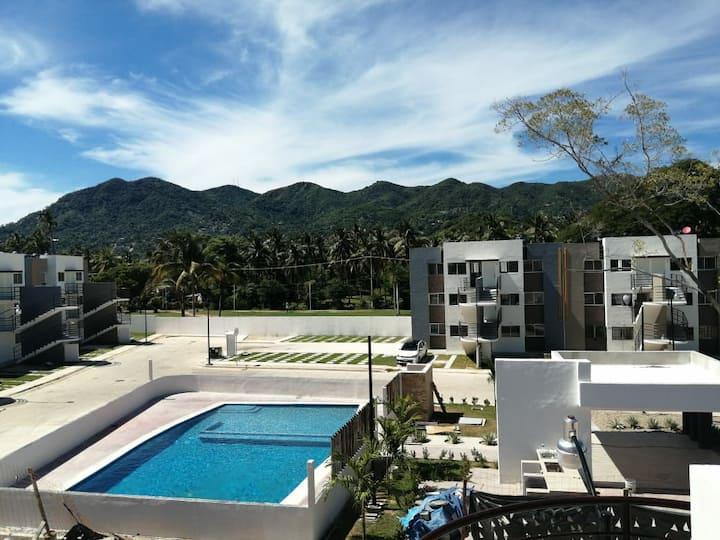 Hermoso depa nuevo. Disfruta de Acapulco.
