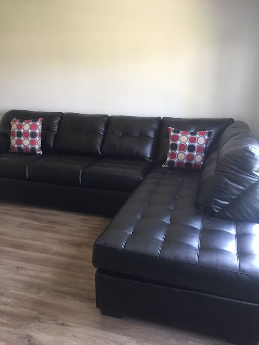 Large sofa for relaxing