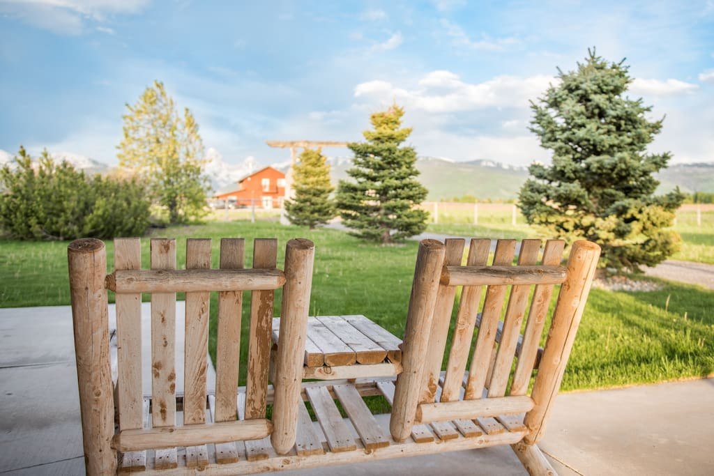 Relax on the patio after a day of outdoor adventure!