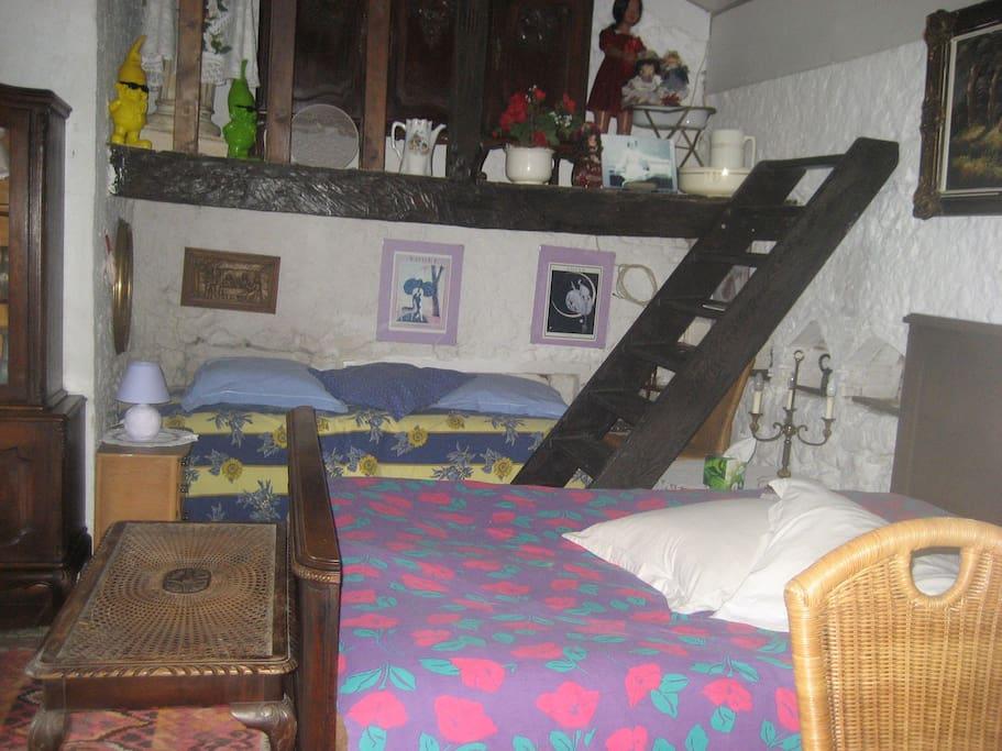 dubbel en enkel bed