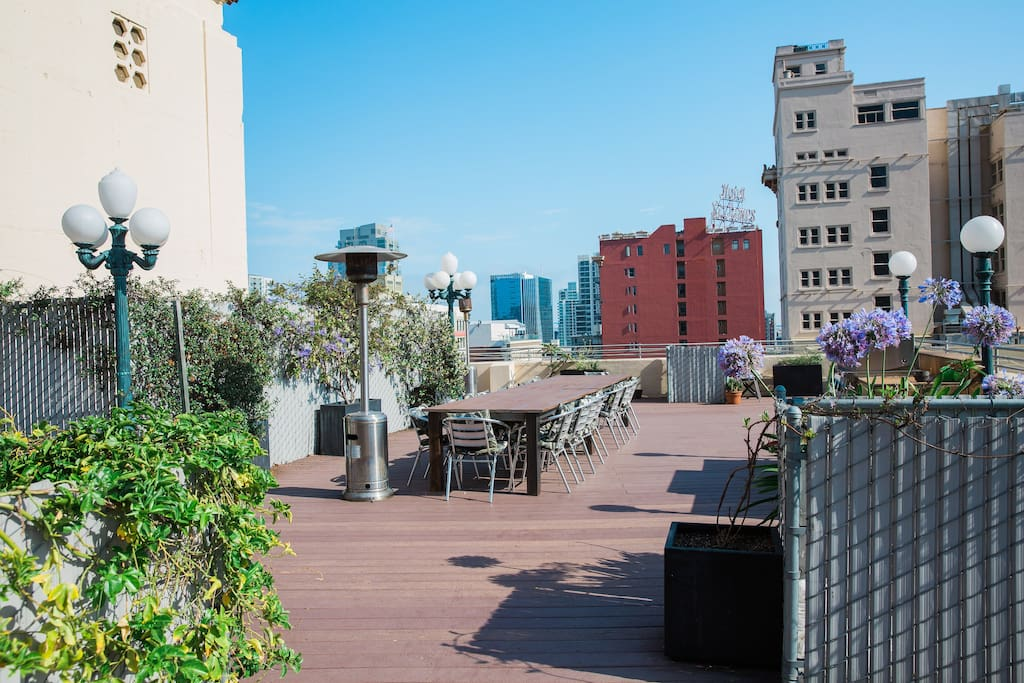 Shared roof deck with BBQ grill with great views of the city!