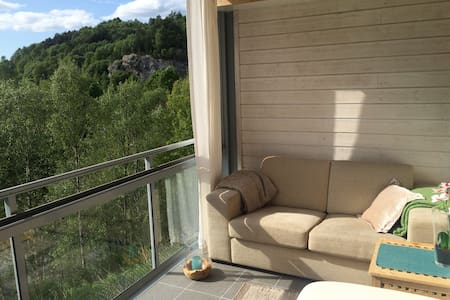 Idyllic apartment close to city life &outdoor life - Bergen - Kondominium