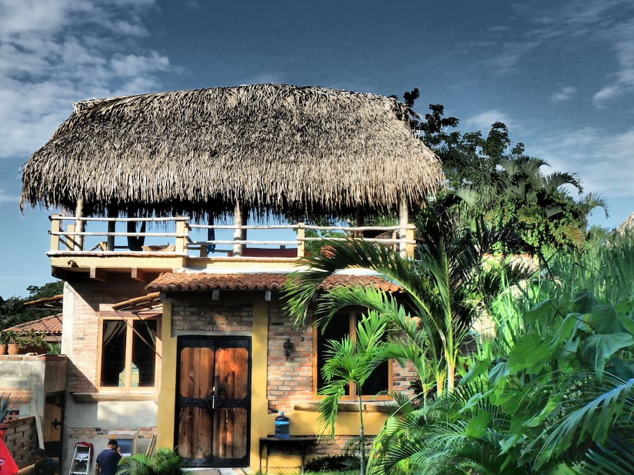 The casita with the roof deck up top.