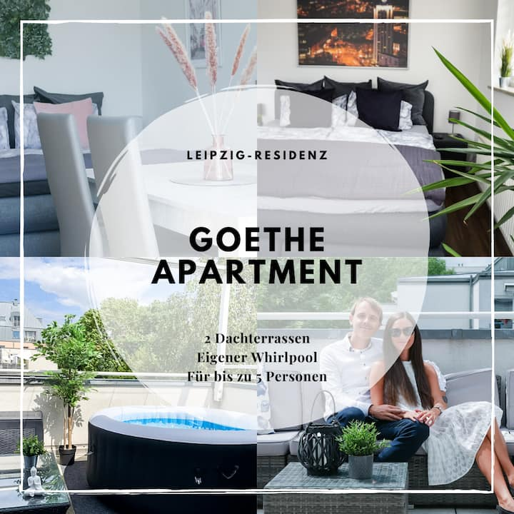 ☆Leipzig Residenz☆ Goethe Appartment, 2 Rooftops