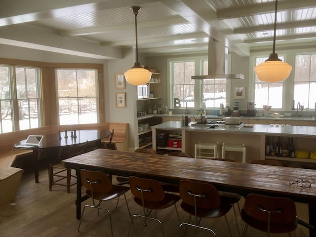 Stylish, sleek in-town remodel - Great Barrington - Huis