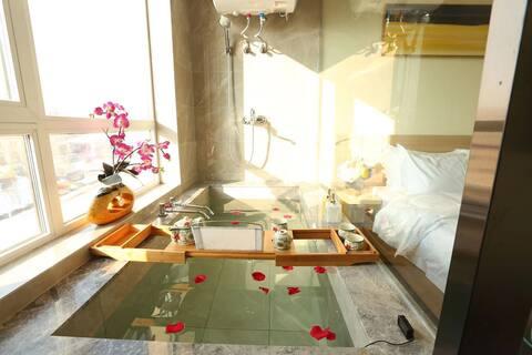 青旅遇尚私汤温泉公寓酒店——家庭套房