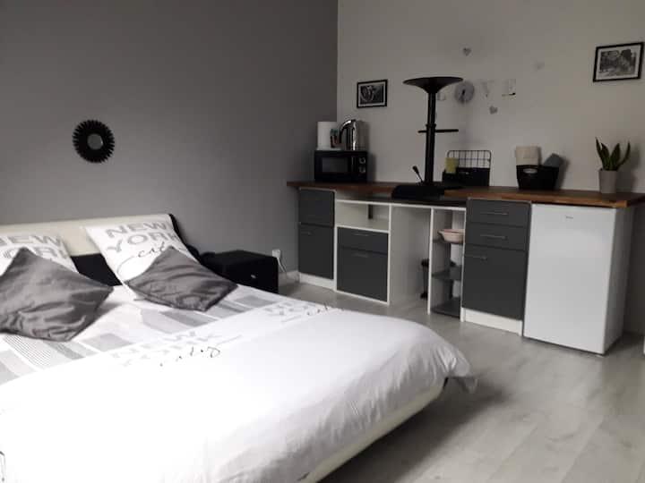 CHAMBRE GRISE 17 m2 tout confort