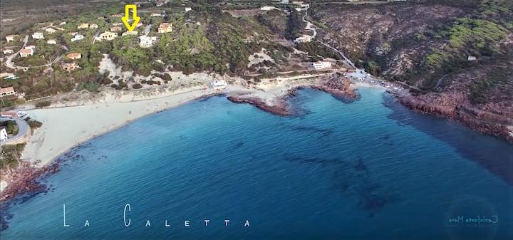Splendida villa fronte spiaggia Caletta Carloforte