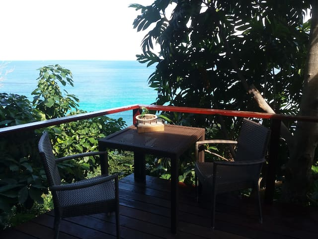 Deck table to enjoy breakfast, a happy hour drink or to just sit and stare at the amazing views.