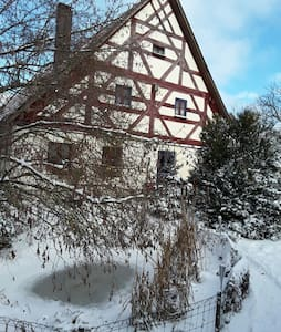 Restauriertes Fachwerkhaus von 1708 - Deining, Großalfalterbach - Hus