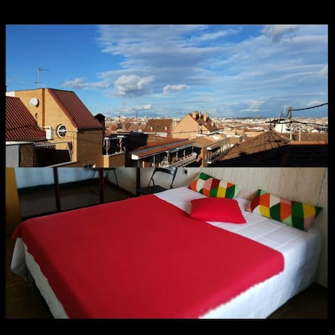 Double room, Vive Madrid, near Toledo bredge