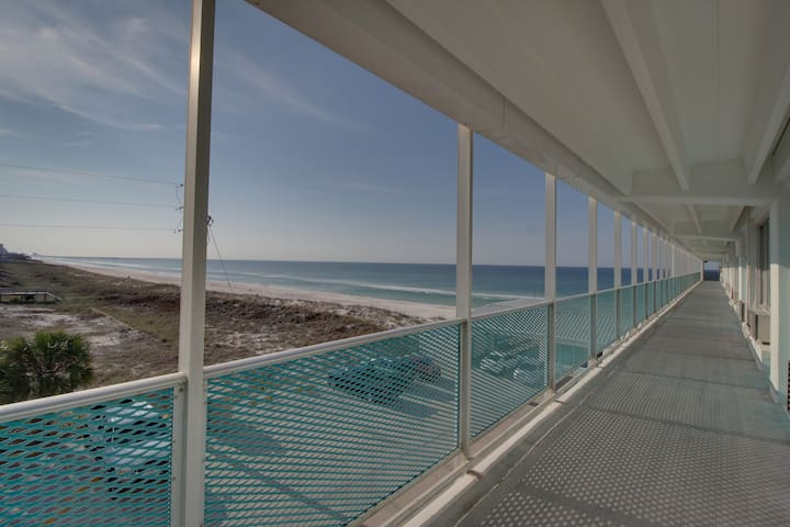 Comfortable Gulf front condo on a private beach w/ shared pool - near Pier Park
