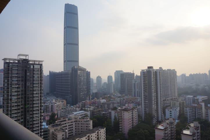 深圳地王大厦酒店公寓、短租酒店 双床房 - Shenzhen - Wohnung