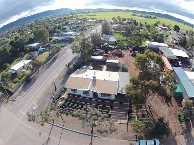 A birds eye view of our location