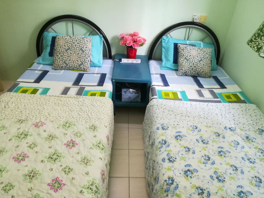 Separate beds upon request.