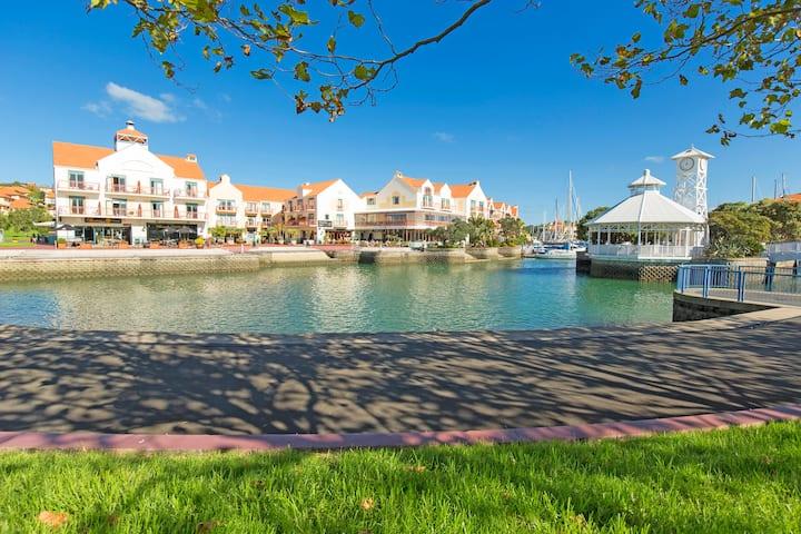 Gulf Harbour Lodge luxury waterside apartment