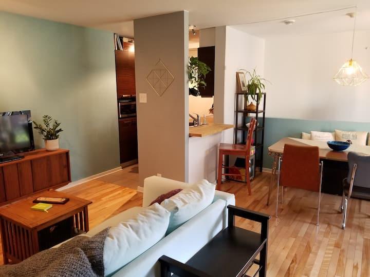 Condo d'une chambre à coucher avec garage chauffé